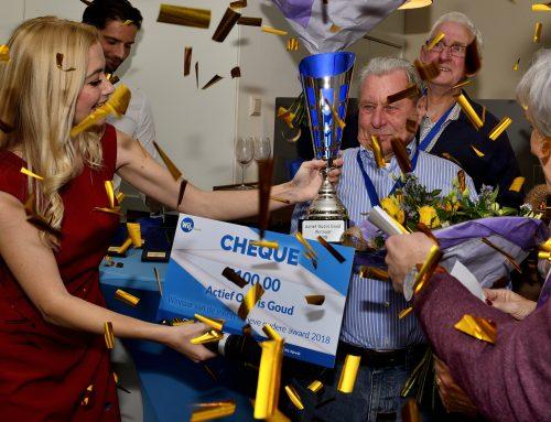 Henk Holtkamp ontvangt Actief oud is Goud Award