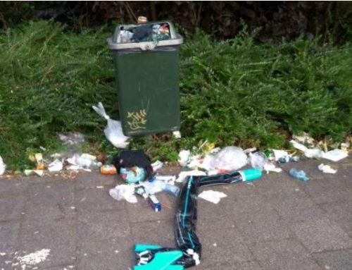 Meer vuilnisbakken in hondenlosloopgebied Wilhelminapark